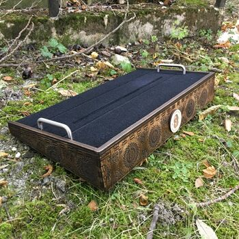 Heavy Seas Top Velcro Dark Walnut Pedalboard