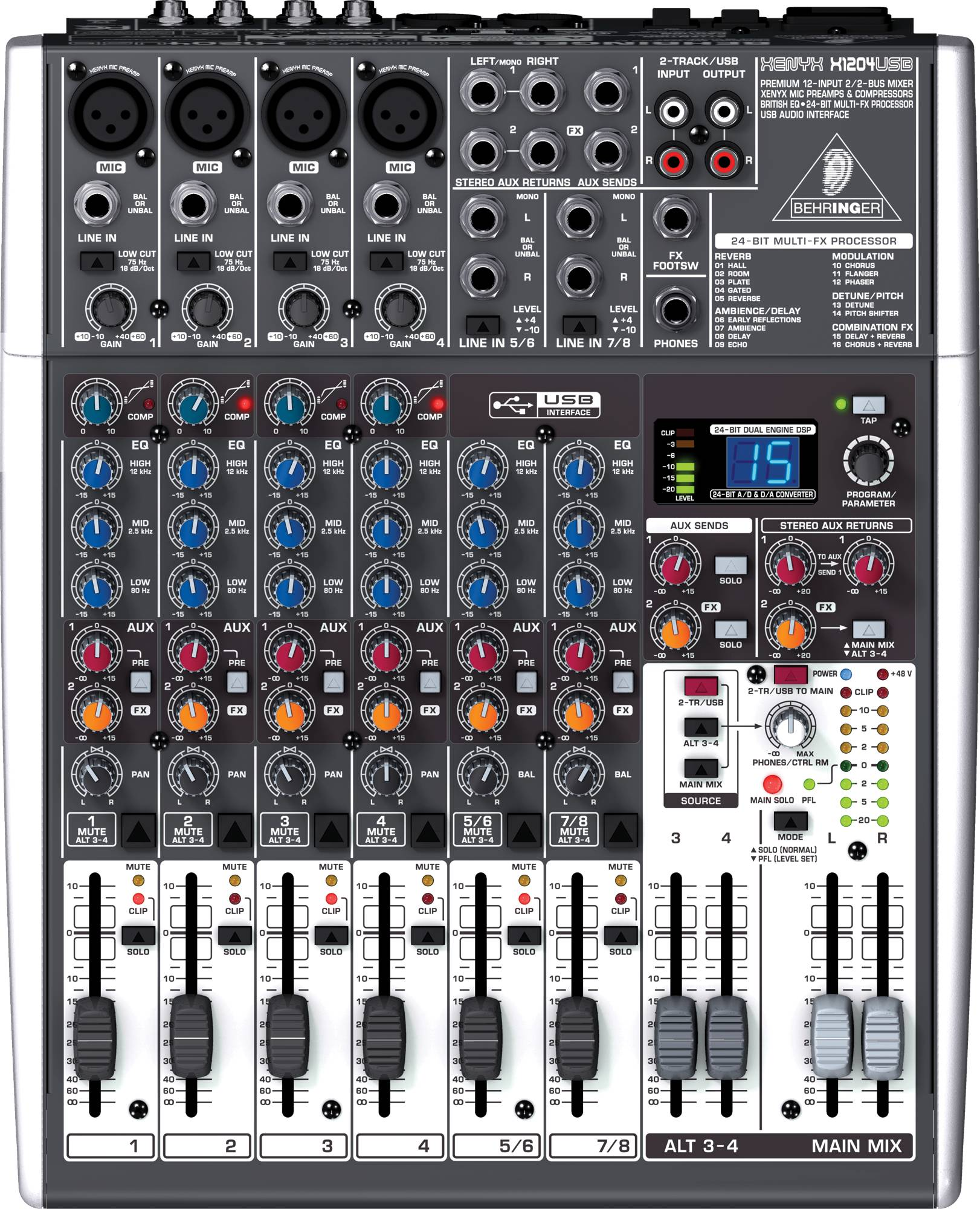 table de mixage xenyx x1204usb