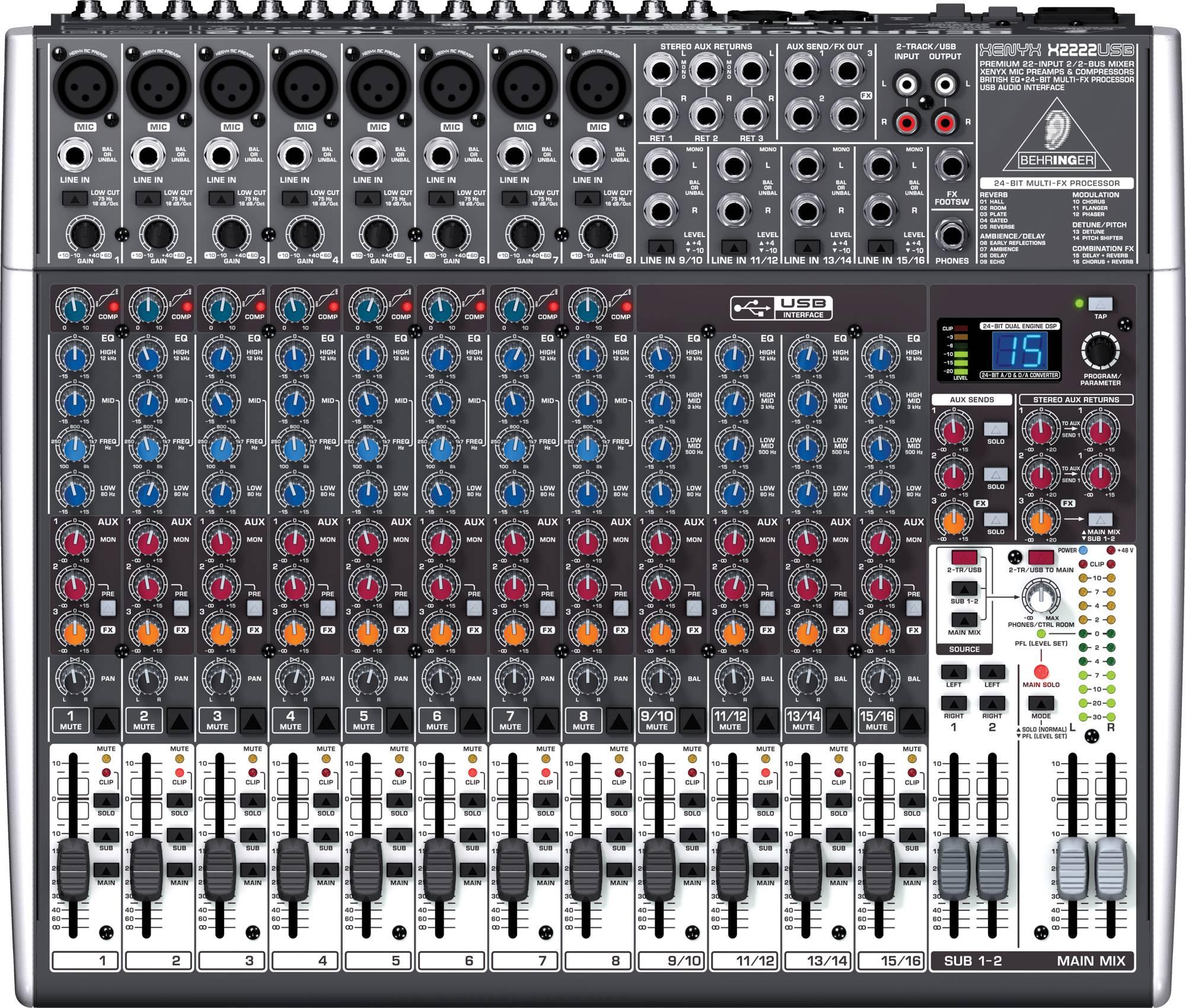 table de mixage behringer xenyx
