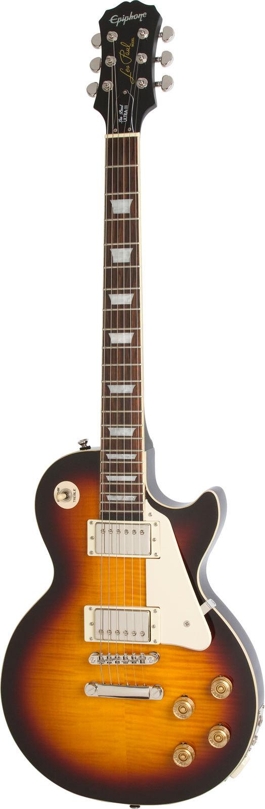 epiphone les paul ultra-iii guitare electrique vintage sunburst