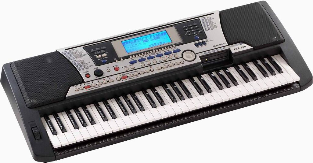 yamaha psr550 61 key digital keyboard synthesizer w disk. Black Bedroom Furniture Sets. Home Design Ideas